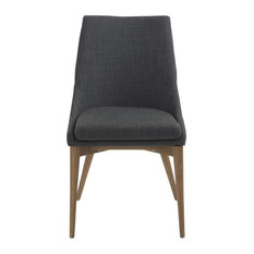 Armless Charcoal Fabric Conference Chair, Set Of 2