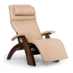 Perfect Chair PC-420 Classic Manual Plus, Ivory Premium Leather, Walnut