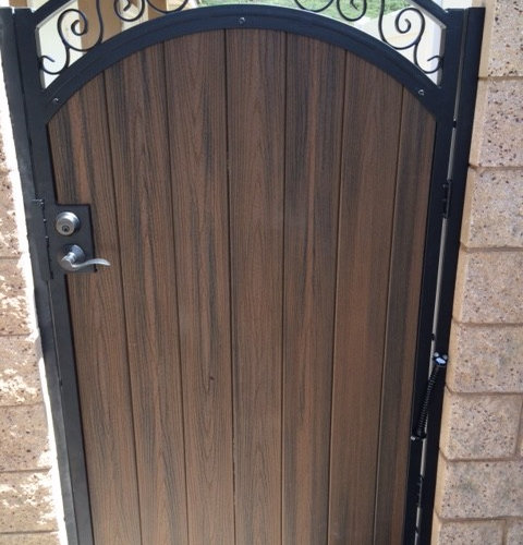 Custom Iron Entry And Side Gates
