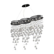 "Elegant Lighting Galaxy Hanging Fixture, Chrome, 48""x10""x36"""