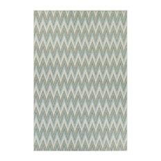 Couristan Monaco Avila Rug, Blue Mist and Ivory, 2 x3 7
