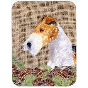 Bedlington Terrier Glass Cutting Board Large Traditional