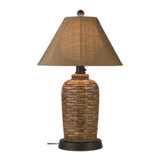 Patio Living Concepts   South Pacific Outdoor Table Lamp, Sesame Sunbrella  Shade   Outdoor Table