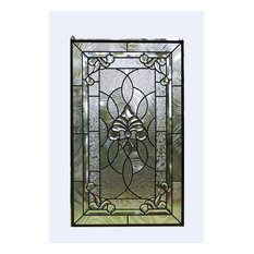 """20"""" x 33.75"""" Stunning Handcrafted stained glass Clear Beveled window panel"""