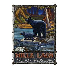 "Paul A. Lanquist Mille Lacs Indian Museum Minnesota Art Print, 9""x12"""