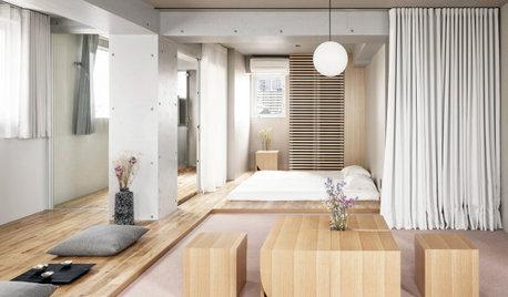 建築途中でホテルから居住用に。曲線と土間のあるスタイリッシュな賃貸住宅