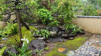 水琴窟とあられこぼしの庭