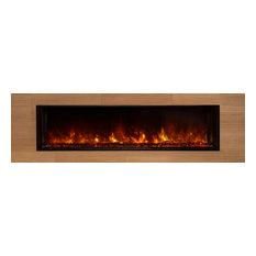 "Landscape Fullview Fireplace, Driftwood Logs, 60"" W"
