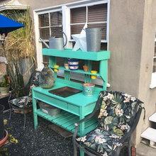 My Latest Plant & Herb Potting Bench