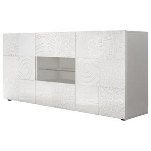 Miro Decorative Sideboard, 181 cm, White Gloss