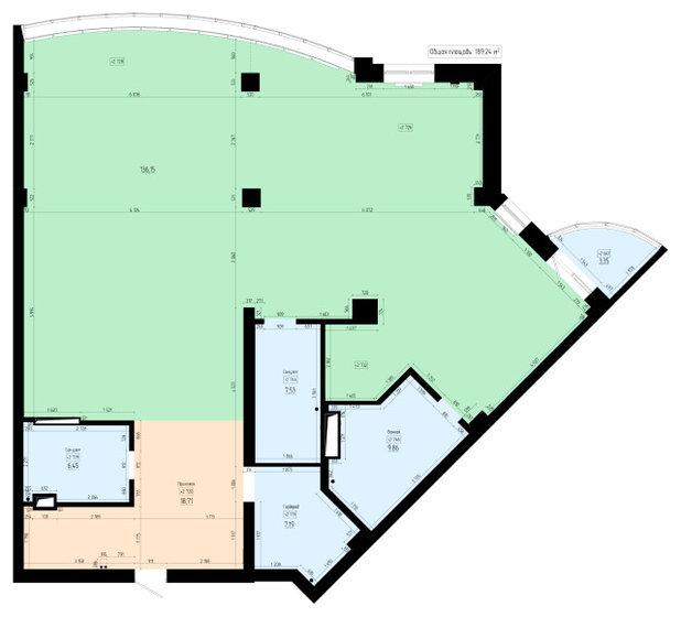 Поиск планировки: Огромная семейная квартира 186 кв.м [5 планов]