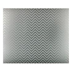 """Chevron Stainless Steel Kitchen Backsplash, 24""""x30"""""""