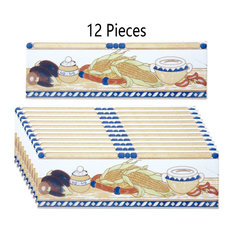 "12 Pcs Ceramic Listello Tile Border Chair Rail 3"" x 10"""