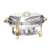 6 qt. Gold Accented Oval Chafer