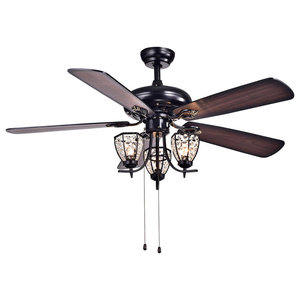 b6a6a7abafe Large Tropical Ceiling Fan Light with 5 Maple Leaves Blade