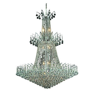 Elegant Lighting Victoria 18-Light Crystal Chandelier, Chrome, Royal Cut