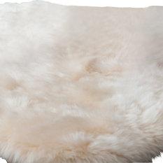 Soft Natural Lambskin Baby Rug