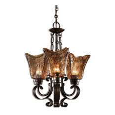 Vetraio 3-Light Oil Rubbed Bronze Chandelier by Designer Carolyn Kinder