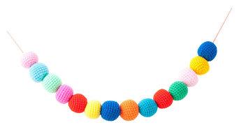 DIY Rainbow Balls - Handmade Crochet Decoration