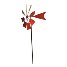 Metal Windmill Stake, Red, 52""