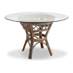 """Nadine Dining Table with 42"""" Round Glass Top"""