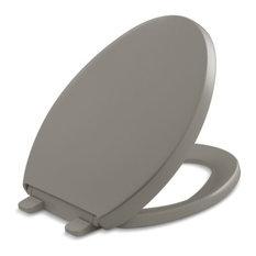 Kohler Reveal Quiet-Close w/ Grip-Tight Bumpers Elongated Toilet Seat, Cashmere