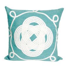 """Ornamental Knot Aqua Pillow - 20"""" SQ"""