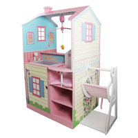 Doll Changing Station Dollhouse - pink