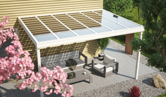 Solarterrassen Aluminium weiß