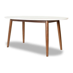 Mid Century Modern Rival Oval Dining Table