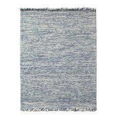 Oshawa Cozy Wool Hand-Woven Area Rug, Blue, 8'x10'