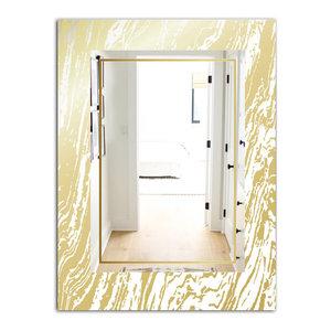 Designart Capital Gold Lively 9 Glam Modern Decorative Mirror Contemporary Bathroom Mirrors By Designart