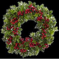 """24"""" Berry Boxwood Wreath"""