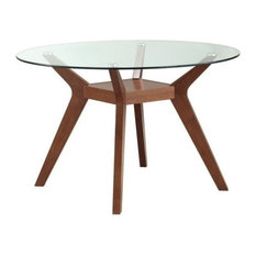 glass top dining room table large coaster home furnishings paxton round glass top dining table nutmeg tables 50 most popular glasstop room for 2018 houzz