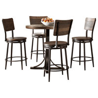 Jennings 5 Piece Counter Height Dining Set With Swivel Counter Height Stools
