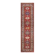 3' X 10' Red Super Kazak Handmade Runner Rug