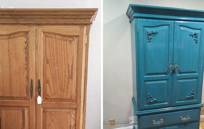 Project Rehab: Colorful New Suit for an Old Armoire