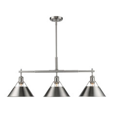 Golden Orwell Linear Pendant 3306-LP PW-PW, Pewter