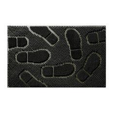 """Rubber Shoe Pad Mat, Black, 24""""x36"""""""