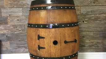 Wine Barrel Bathroom and Mancave