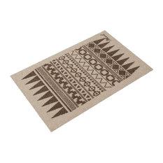 Juliet Patterned Doormat, Beige and Brown
