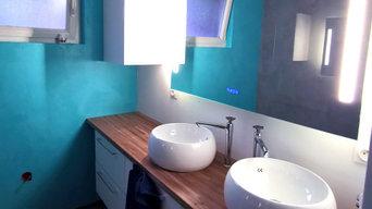 Rénovation de salle de bain - Béton ciré
