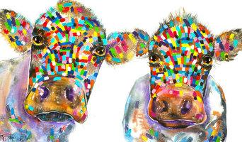 Tracey Keller 2 Cows Canvas Print