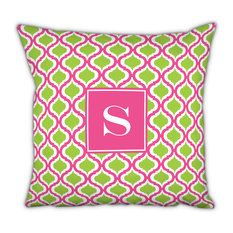 Square Pillow Kate Single Initial, Letter Q
