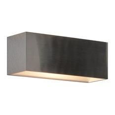 QB2 LED Wall Sconce, Brushed Chrome
