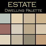 """Benjamin Moore® Paint colors - Color in Space Estate Palette™--elegant & refined - Each palette consists of twelve Benjamin Moore® paint colors in 4"""" swatches and no colors are repeated. The intentional selection of the twelve colors ensures that they are energetically balanced and will create the feeling of the dwelling for which it is named."""