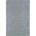 """Momeni - Como COM-3 Indoor Outdoor Rug, Blue, 6'7""""x9'6"""" - Maintain the beauty of the rug by rinsing with a garden hose; spills and stains should be treated by a professional cleaner."""