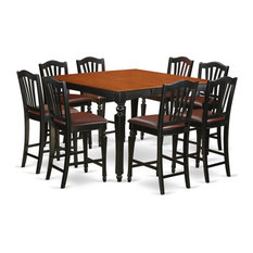 9-Piece Counter Set Square Counter Table And 8 Stools