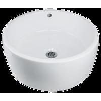 "Nantucket Sinks NSV213 16"" Round Ceramic Vessel Bathroom Sink in White"