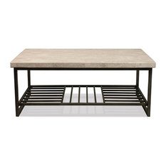 Elegant Riverside Furniture   Stone Top Cocktail Table   Coffee Tables